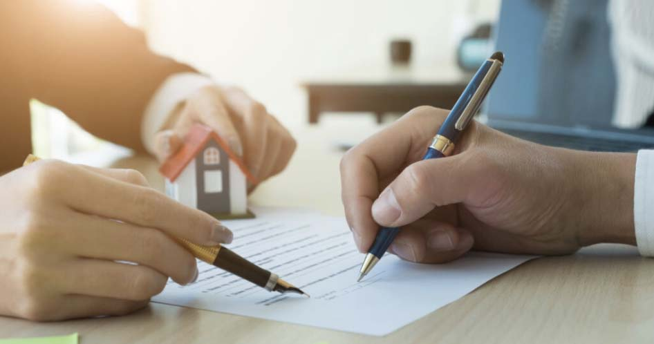 Closing documents for a new home